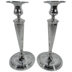 Pair of Towle Seville Sterling Silver Candlesticks