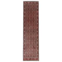 Vintage Persian Rug, Hamedan Runner Rugs, Carpet Stair Runner