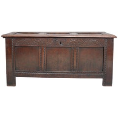 17th Century Carved Oak Coffer