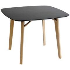 Tria Tetra Square Table, Oak, Minimalist Design Icon Inspired to Graphic Art