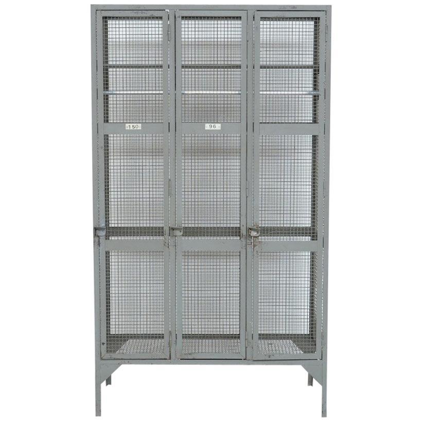 Industrial Transparent Metal Locker Cabinet