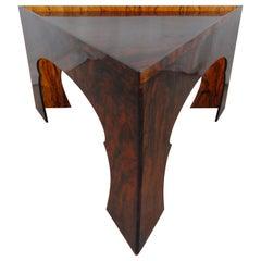 Faux Tortoiseshell Acrylic Triangle Table, Short