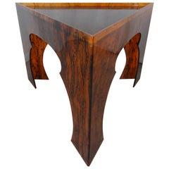 Faux Tortoiseshell Acrylic Triangle Table, Medium