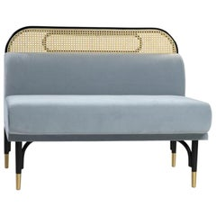 Targa Modular Sofa Central Unit with Brass Feet by Gamfratesi & GTV