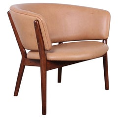 Leather Lounge Chair by Nanna Ditzel