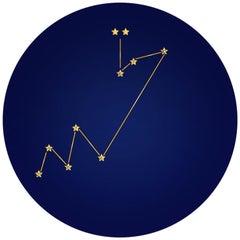 Troisième Constellation de la Victoire, Contemporary Porcelain Dinner Plates