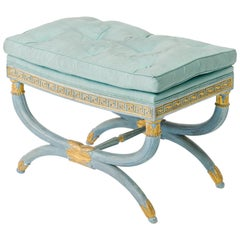 1950s Italian Classical Greek Key Bench
