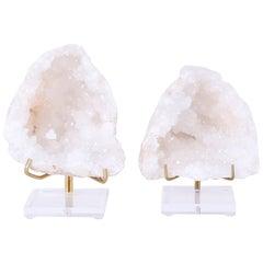 Two Quartz Geode Specimens