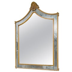 Large 1940s Hollywood Regency Shell Mirror