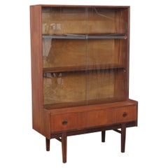 G-Plan Teak Sliding Glass Door Display Cabinet