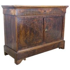 Antique Burr Walnut Louis Philippe Buffet