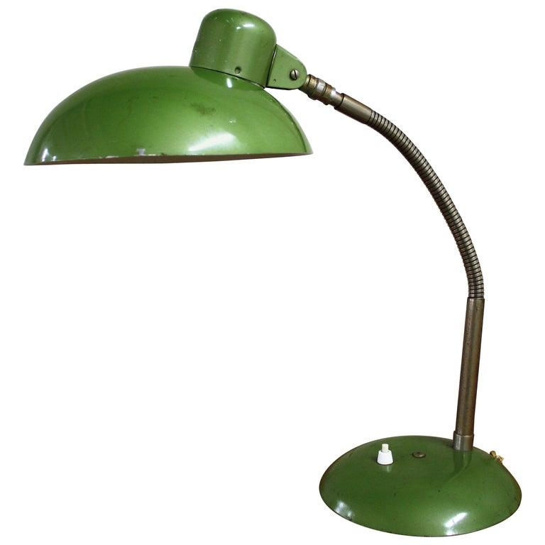 Green Vintage Industrial Bauhaus Desk Lamp by SIS, Germany, 1950s
