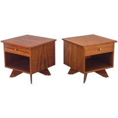 Pair of George Nakashima Origins Nightstands for Widdicomb