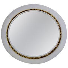 Vintage Hans-Agne Jakobsson Mirror with Braided Brass Decor