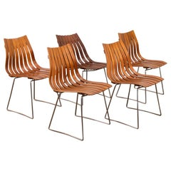 Set of Five Hans Brattrud Scandia Dining Chairs