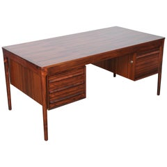 Norwegian Six-Drawer Executive Desk by Torbjørn Afdal in Brazilian Rosewood