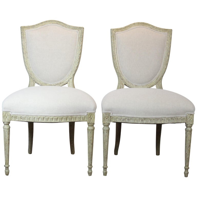 Louis XVI Style Side Chairs For Sale