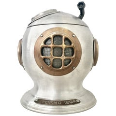 "1960'S Italian Aluminium ""Diver Helmet"" Thermal Ice Bucket"