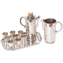 Art Deco Albert Feinauer Silver Plate / Catalin Cocktail Set for Barbour Silver