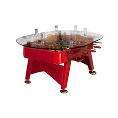 RS-Barcelona Tall Oval RS Dining Table in Red by José Andrés