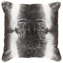 Gianfranco Ferré Kirah Gothic Pillow in Grey Orylag Fur