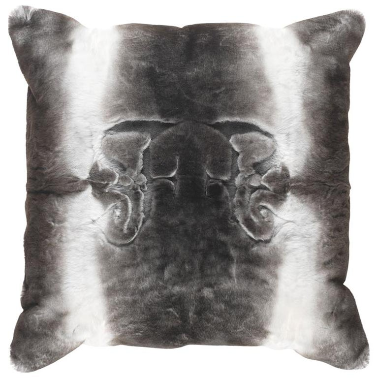 Gianfranco Ferré Kirah Gothic Pillow in Grey Orylag Fur