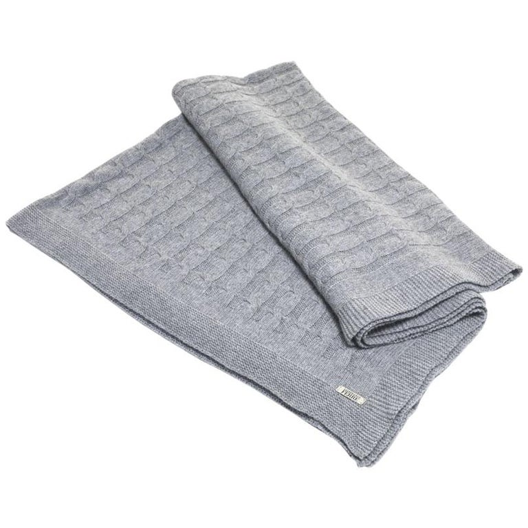 Gianfranco Ferré Lester Throw in Grey Cashmere