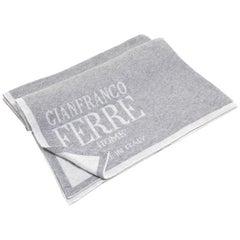 Gianfranco Ferré Logo Throw in Grey Cashmere