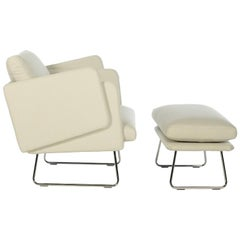 RS-Barcelona Spongy Armchair with Footrest in White by Stone Designs