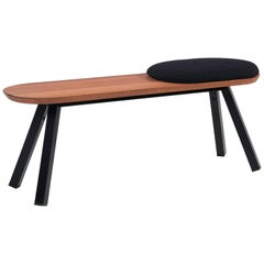 RS-Barcelona Small You and Me Bench with Short Black Seat Cushion by A.P.O.