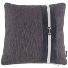 Gianfranco Ferré Noho Pillow in Dark Brown Fabric