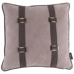 Gianfranco Ferre Kallio Pillow in Brown Leather