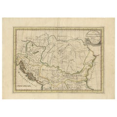 Antique Map of the Balkans by G.M. Cassini, 1801