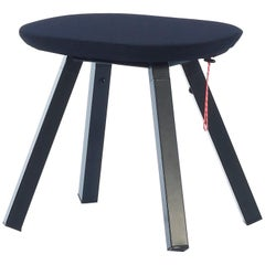 RS-Barcelona You and Me Stool in Walnut and Black with Black Cover by A.P.O.