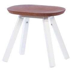 RS-Barcelona You & Me Stool in Walnut and White by A.P.O.