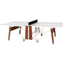 RS-Barcelona Ping-Pong Folding Table in White by Rafael Rodríguez
