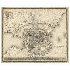 Antique Map of the City of Copenhagen 'Denmark' by J. Meyer, 1844
