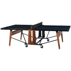 RS-Barcelona Ping-Pong Folding Table in Black and Iroko by Rafael Rodríguez