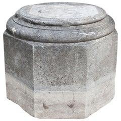 Sandstone Octagonal Pedestal, Germany, 18th Century
