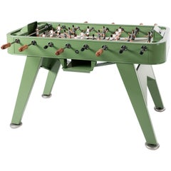 RS-Barcelona RS2 Football Table in Green Stainless Steel by Rafael Rodríguez