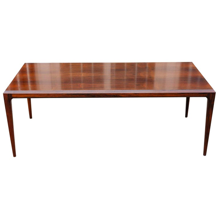 1960s Rosewood Coffee Table by Johannes Andersen For CFC Silkeborg