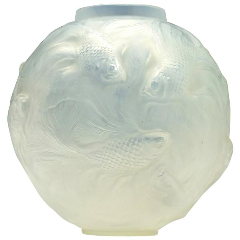 Ren Lalique Smoke Grey Formose Vase Marcilhac No 934 At 1stdibs