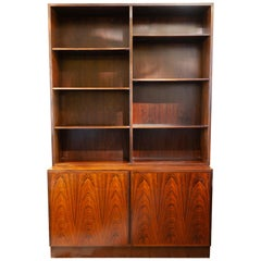 1960s Danish Omann Jun Rosewood Shelving Unit and Storage Cabinet, Model No. 4