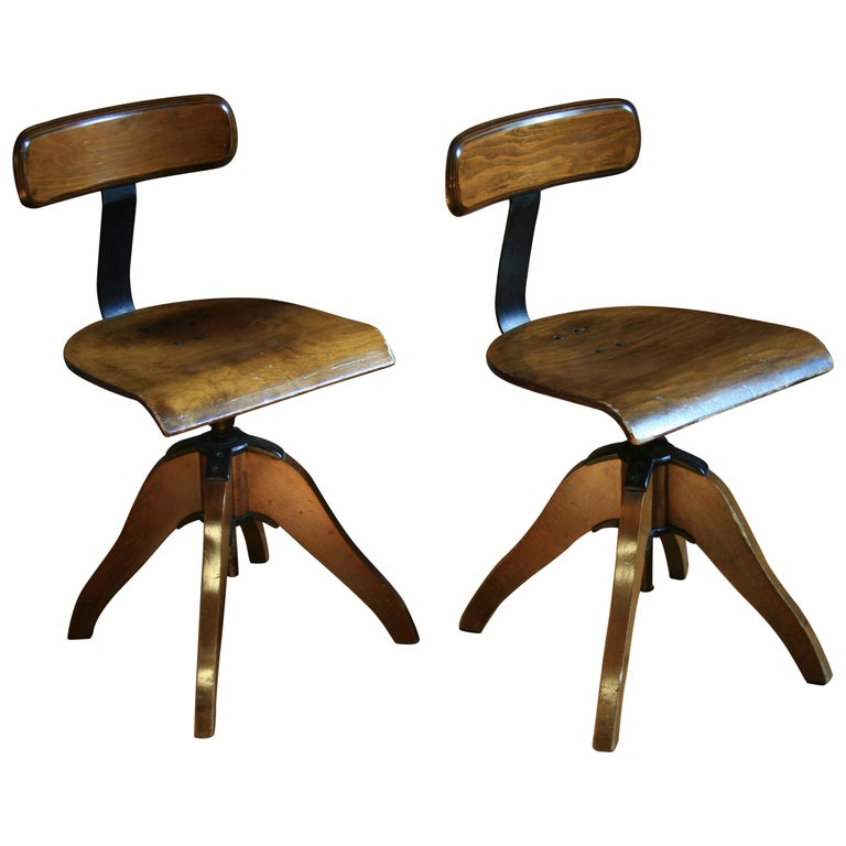 1940s Vintage Office Swivel Chair