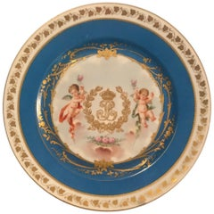 19th Century Sevres Plate Louis Philippe