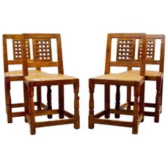 """Set of Four """"Mouseman"""" Side Chairs"""