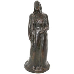 American Bronze Sculpture by Roman Bronze Works NY Foundry, 19th Century