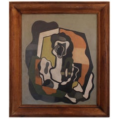 Unsigned Abstract Painting, Early 20th Century