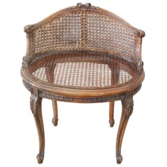 20th Century Italian Louis XV Style Chair with Canapé