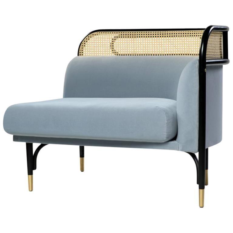 Targa Modular Sofa Left End Unit With Brass Feet By Gamfratesi U0026 GTV For  Sale